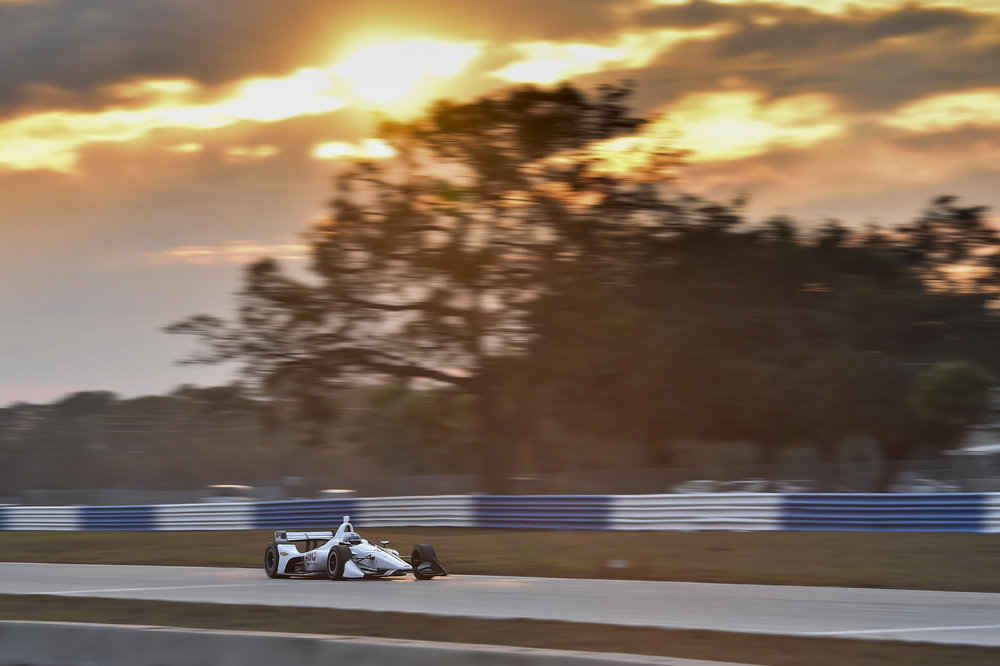 Sebring Testing, maybe the best light I captured in a racing photo all year. -