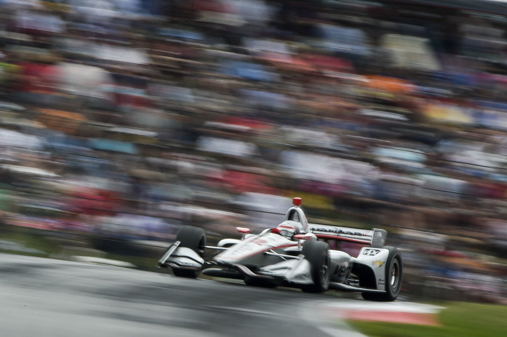 Courses like Mid-Ohio make for some of the most spectacular images of our season. This photograph of Will Power is my new favorite vantage point at the track. It's not for everyone, in fact it's a blurry mess. That's what I like about it. I have plenty of sharp still ones, this one is different.