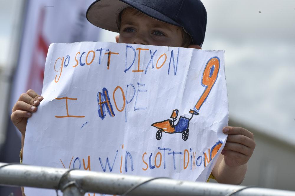 Scott Dixon fans are loyal.