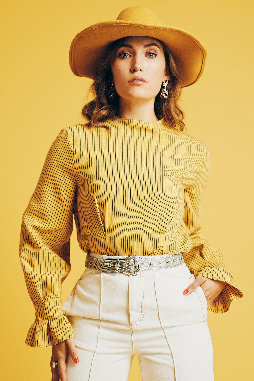 Hat: Urban Outfitters Shirt, Pants, Belt: Topshop Photographer: Noah   Asanias