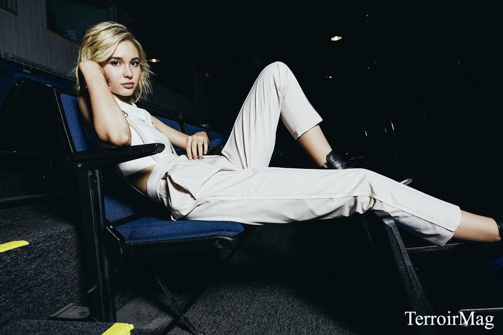 Suspender Pants: Elisabetta Franchi Boots: AllSaints