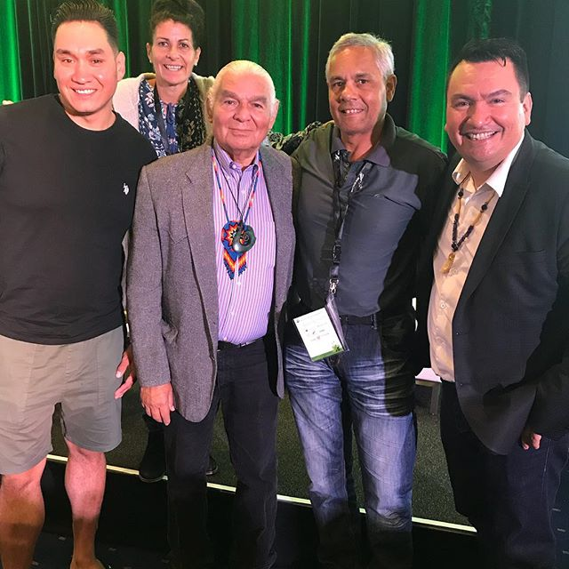 L to R Shaun , Lexene , Ben Sherman (chairman of World Indigenous Tourism Alliance, Sioux Nation America ) me ( Gooriemooka Tours) Chief Ian Campbell (Squamish Nation British Columbia). World Indigenous Tourism Summit New Zealand. #gooriemookatours #redlandscitycouncil #redlandstourism #straddieis #straddiechamberofcommerce #queenslandmuseum #straddiehotel #staddieferry #platinumairtours #airbournesolutions