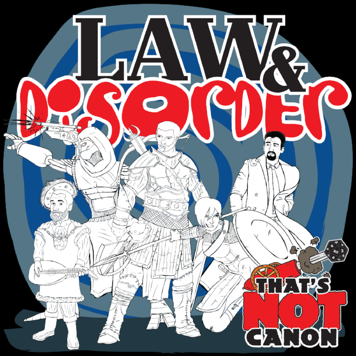 Law & DISORDER is a weekly, 5th edition, actualplay podcast following a band of troubled City Marshals as they try their best to clean up crime in the city of Untherlass with very limited legal powers and even less training.