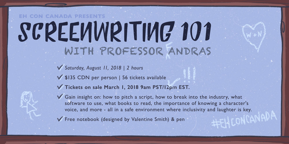 Join Professor Andras for a screenwriting class!
