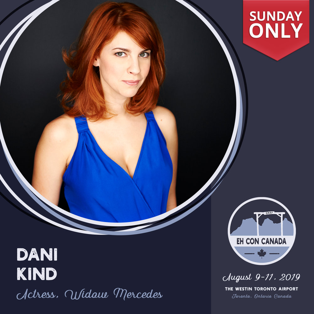 Dani Kind   Toronto based actress Dani Kind stars in the series regular role of 'Anne' in CBC's half-hour comedy series   Workin' Moms   starring writer/producer Catherine Reitman.  Kind can also be seen guest starring as 'Mercedes Gardner' on SyFy's hit series   Wynonna Earp  , and recently won Best Performance at the FAVA awards for her lead role in the short film   Yellow Lines  .  She most recently worked with director Veena Sud on her latest film,   Between Earth and Sky   starring award winning actor Peter Sarsgaard.