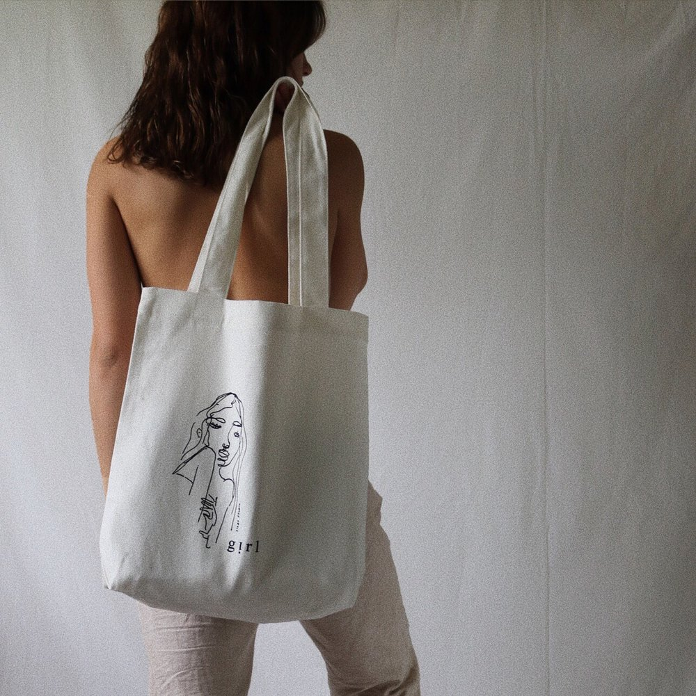 """I Got You"" Tote by  Silas Studio"