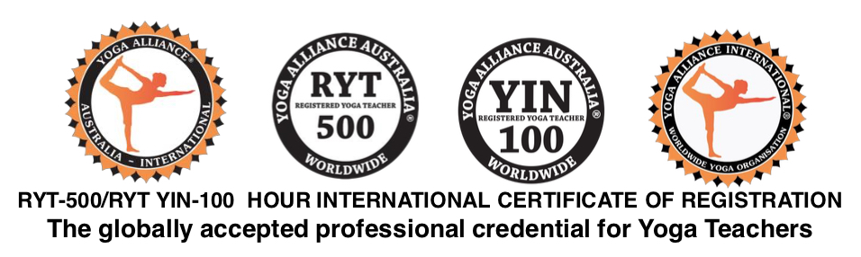 Amy Weidlich Yoga Alliance International professional credentials.