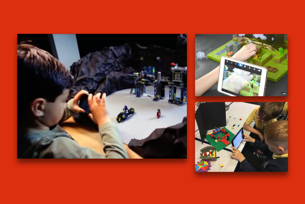 A few users using the LEGO: Movie Maker App to make their own stop motion videos with their own LEGO sets.