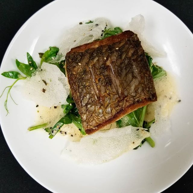 Curry-ous about our Mauritius Island Redfish? 🐟 Crispy Rice/Pea Shoots/Thai Curry Nage . Available on our menu NOW!