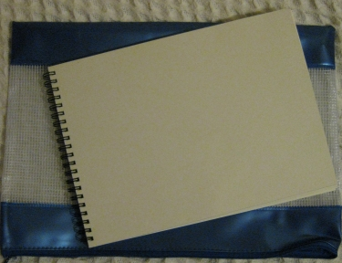 watercolour spiral bound sketchbook