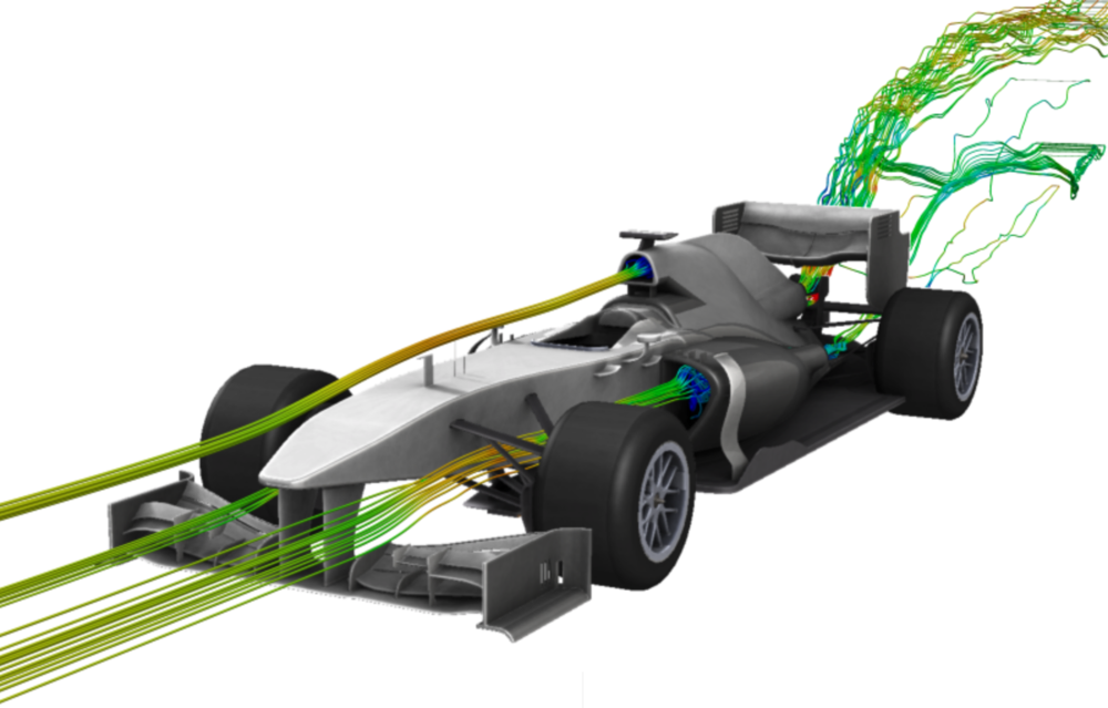 DES simulation of formula racing car