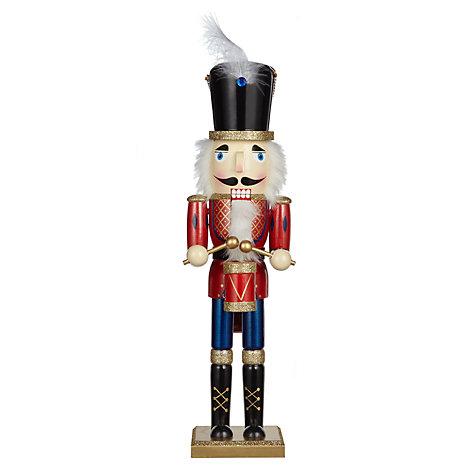 Nutcracker Drummer Wood Figurine