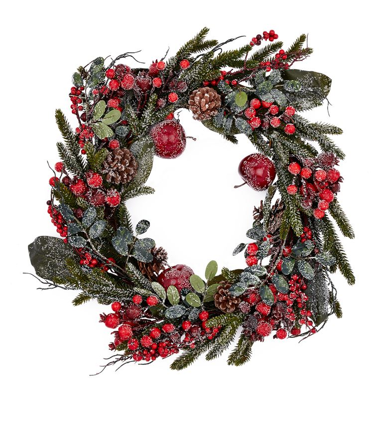 Red frosted berry wreath