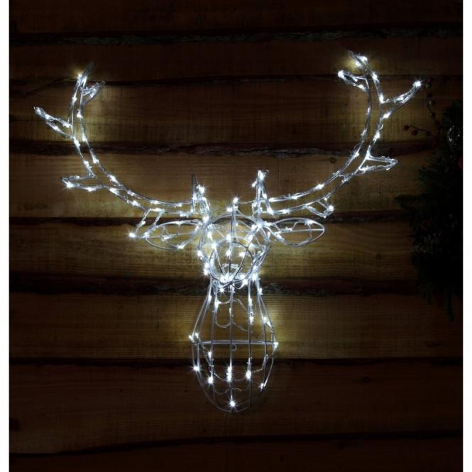 Reindeer Head LED Wall Decoration