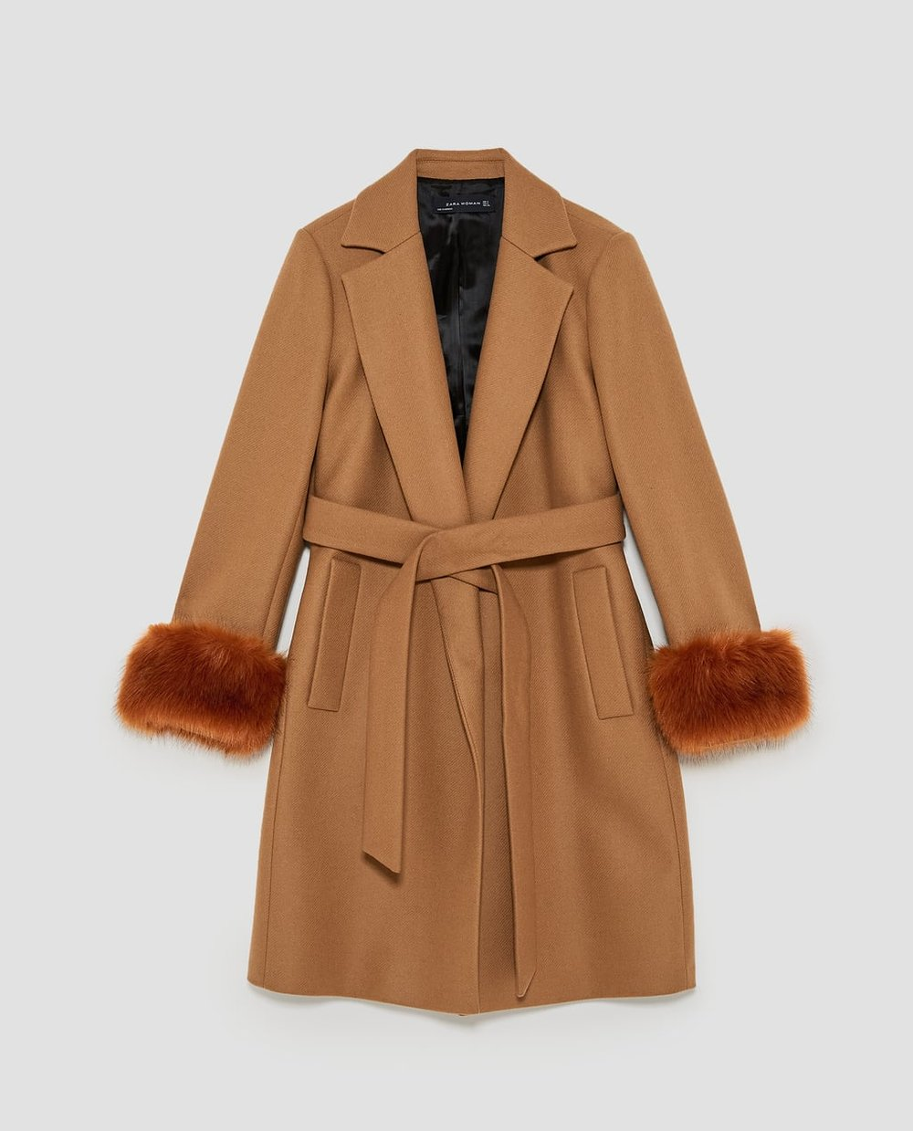 Coat with textured cuffs,£119, ZARA -