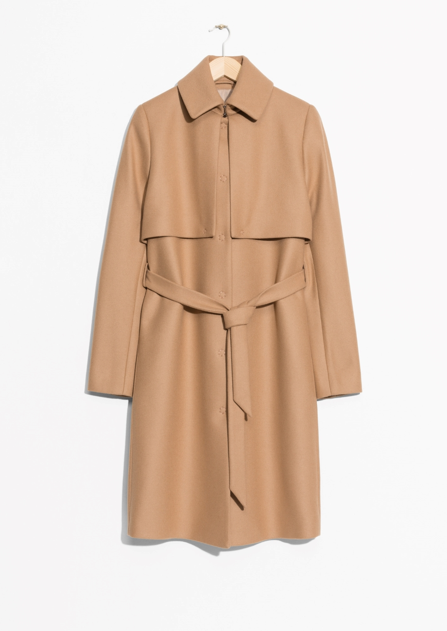 Wool trench coat,£165,& Other Stories  -