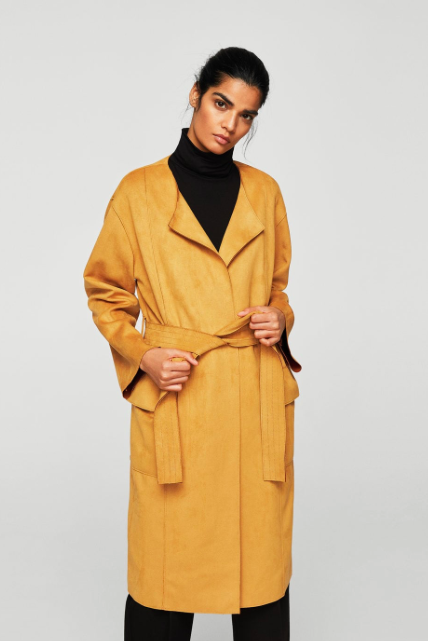 Soft finished trench,£69.99, Mango -