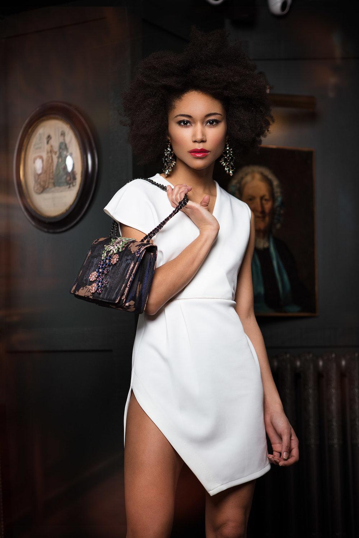 Dress : RED Privé Bag : ESSENTIEL ANTWERP @essentielantwerp Earings : H&M