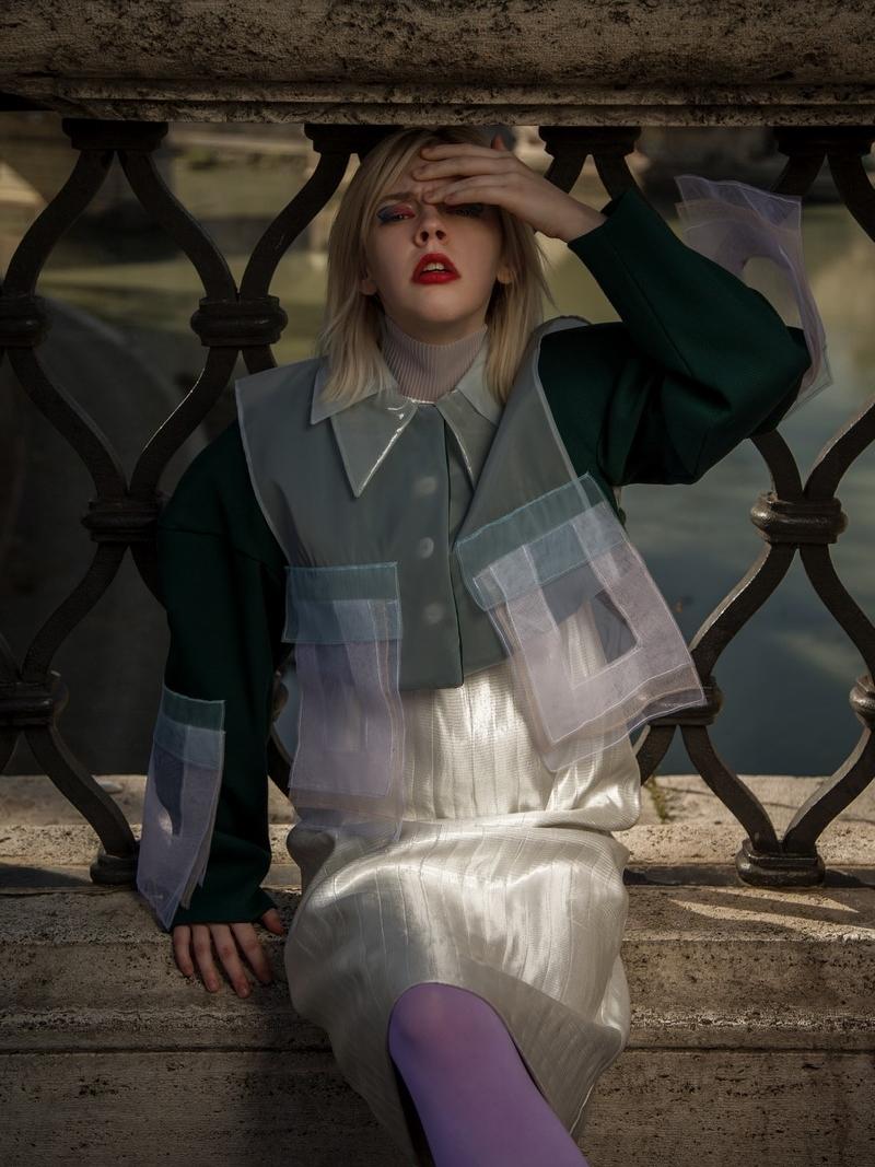 Model: Alexis Windham @leqally_blonde Total look: Mauro Muzio Medaglia @m.m.muzio