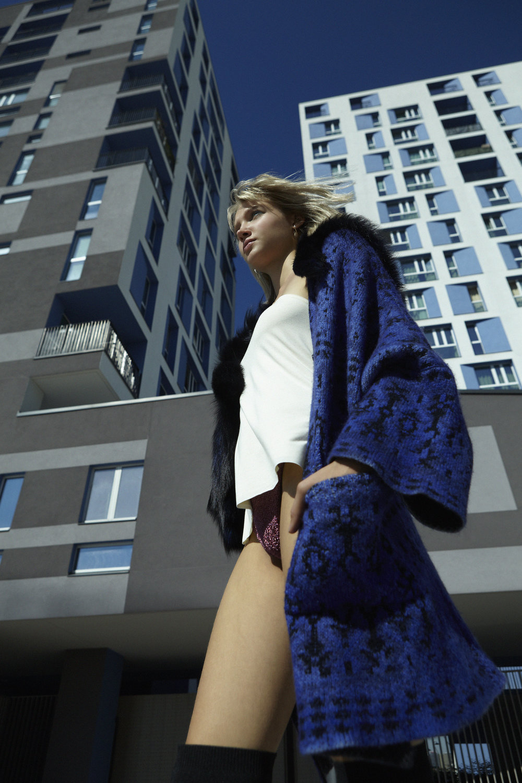 Coat Avant Toi - Top Nvk Daydoll - Underwear Mimì a la mer - Boots Mango
