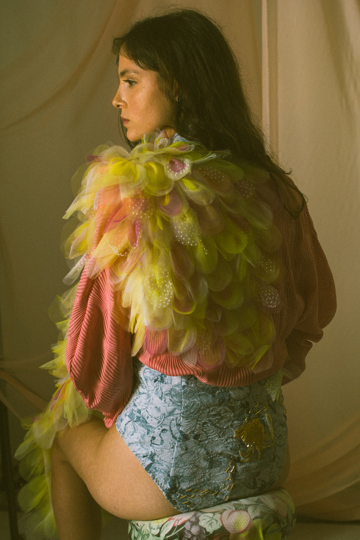 Bodysuit by Maya Hochstadter for Shenkar @ mayahoch  | Pink Top Zara