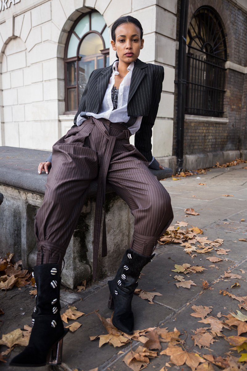 Jacket Aleksandra Seweryniak Shirt &  Trousers Steph Verano, Top Car2ie, Boots  Kinga Kasinska