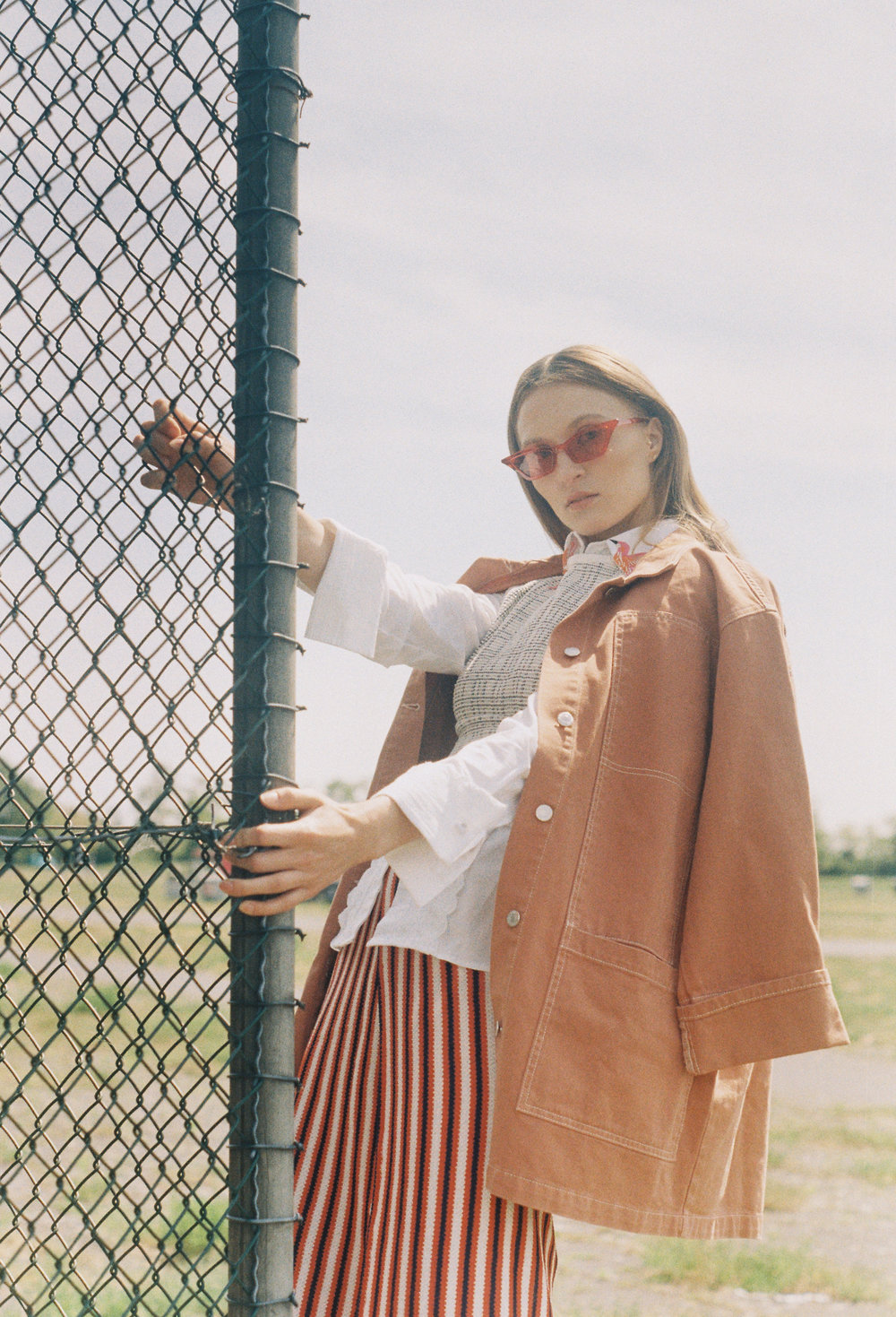 ACC/Sunglasses: Stylist's Own  Jacket&Skirt: Pull&Bear  Blouse: The Extreme Collection  Knitweartop: Banana Republic