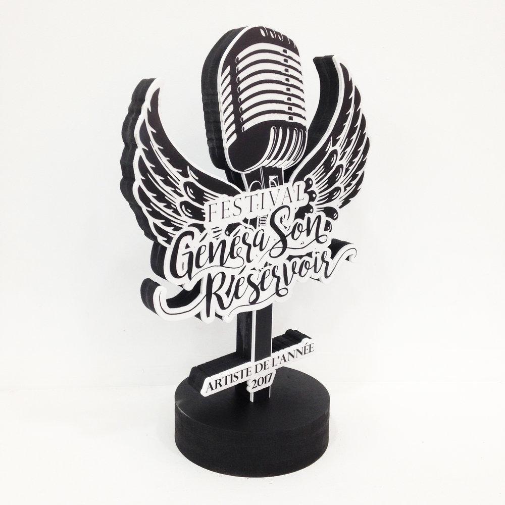 Trophées pour le festival GénéraSon Réservoir - édition 2017