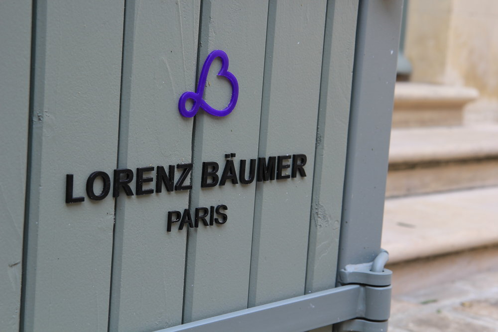 Signalétique pour la marque Lorenz Bäumer Paris