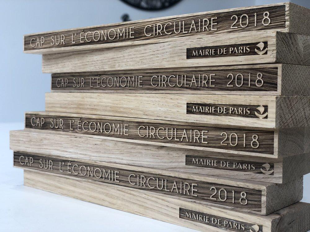 Bases de trophées pour le CAP sur l'économie circulaire de 2018