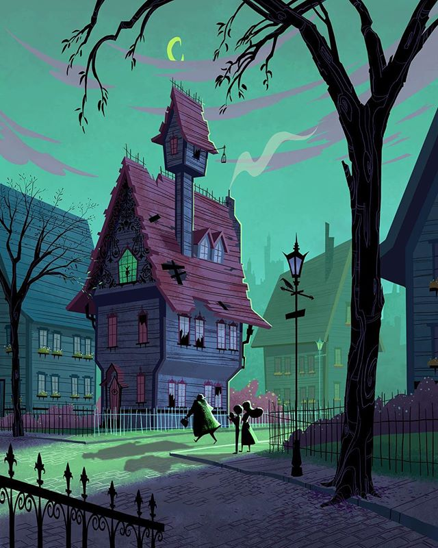 "An illustration I did base on the story ""A Series of Unfortunate Events""  #art #illustration #visualdevelopment #background #artwork #artistsoninstagram"