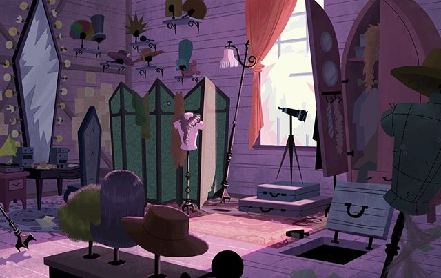 A scene base on the cutaway of Count Olaf's room  #art #illustration #visualdevelopment #background #artistsoninstagram #conceptart