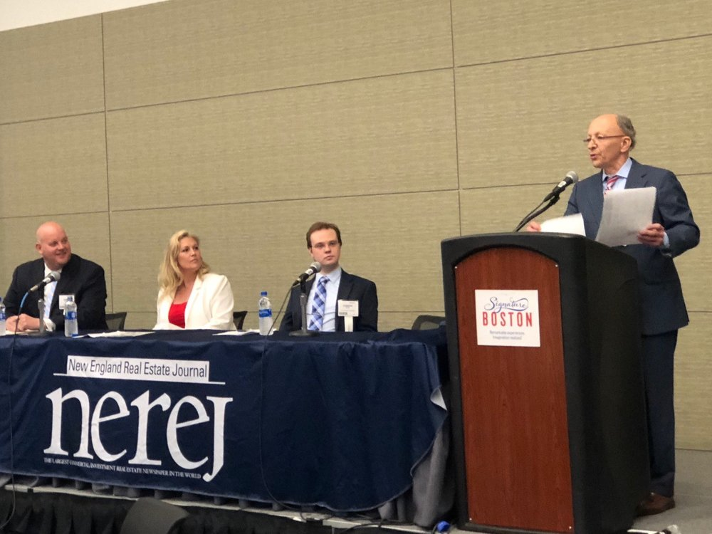 Shown: Greg McGee, LandLease, Deborah Griffin, Nickerson RE, and Joseph Stepp, Licata Risk Advisors - moderating the panel, Frank Licata, Licata Risk Advisors.