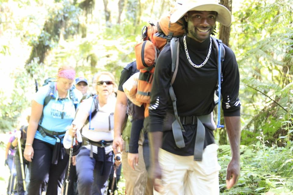 RG3 leads the pack to Machame Camp