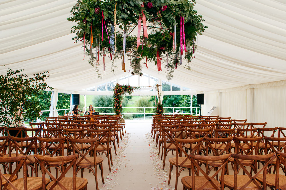 Wedding marquee hire South of England.