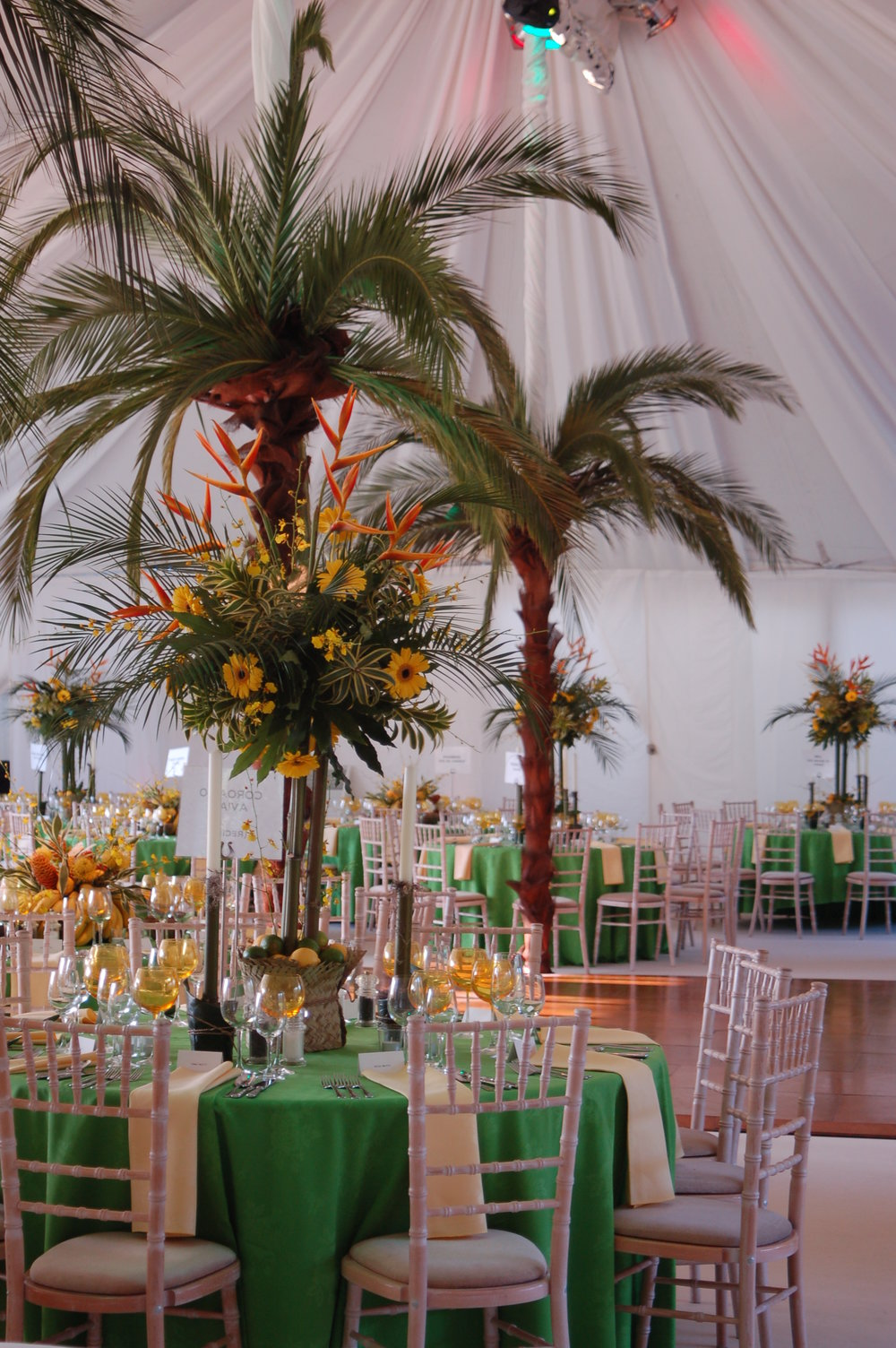 Traditional wedding marquee hire