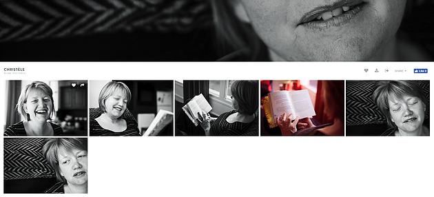 - A présent, vous pouvez visualiser l'ensemble de vos photos en faisant défiler la page vers le bas.