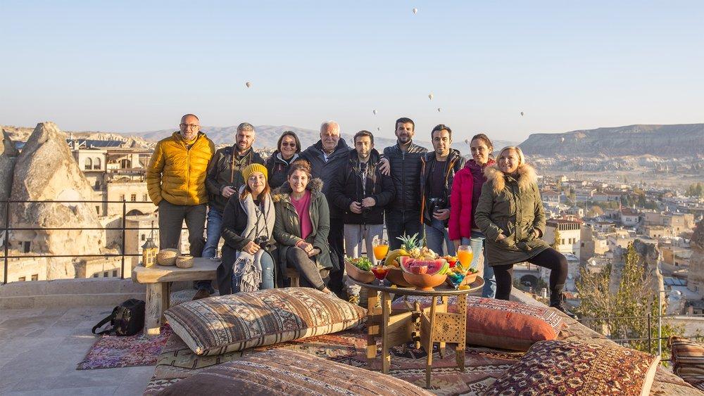 2017'nin Kasım Ayında yaptığımız Kapadokya Turu'ndan bir hatıra fotoğrafı.