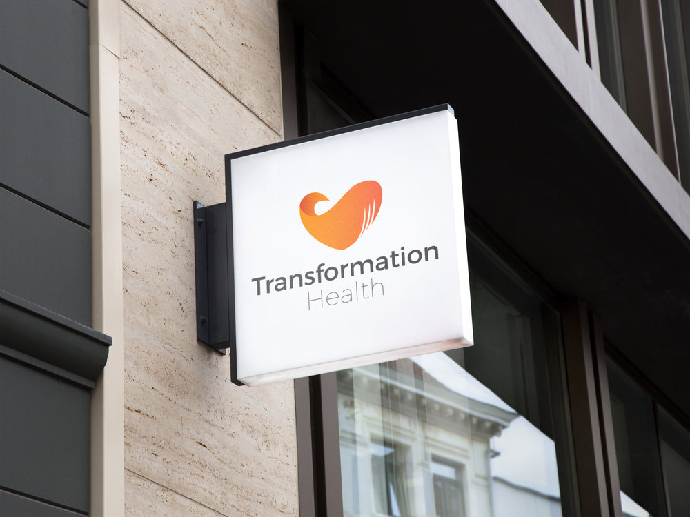 Signage for start-up Transformation Health
