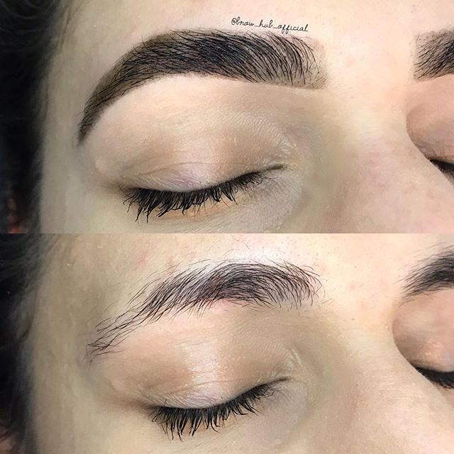 Patchy brows ? no problem ! ⭐️ @le.marque.au henna used for a lasting stain.  Ahhhhmaaazing ! Finished with @ponicosmetics brow pop 💕