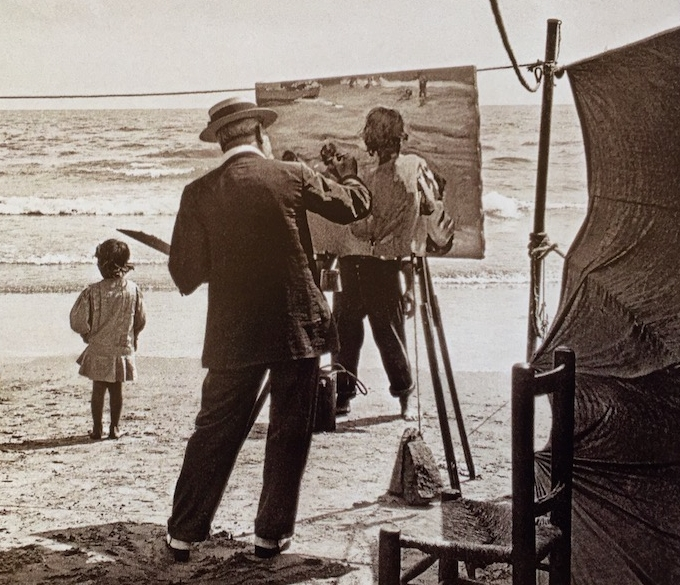 Sorolla Photograph Painting by the Sea.jpg