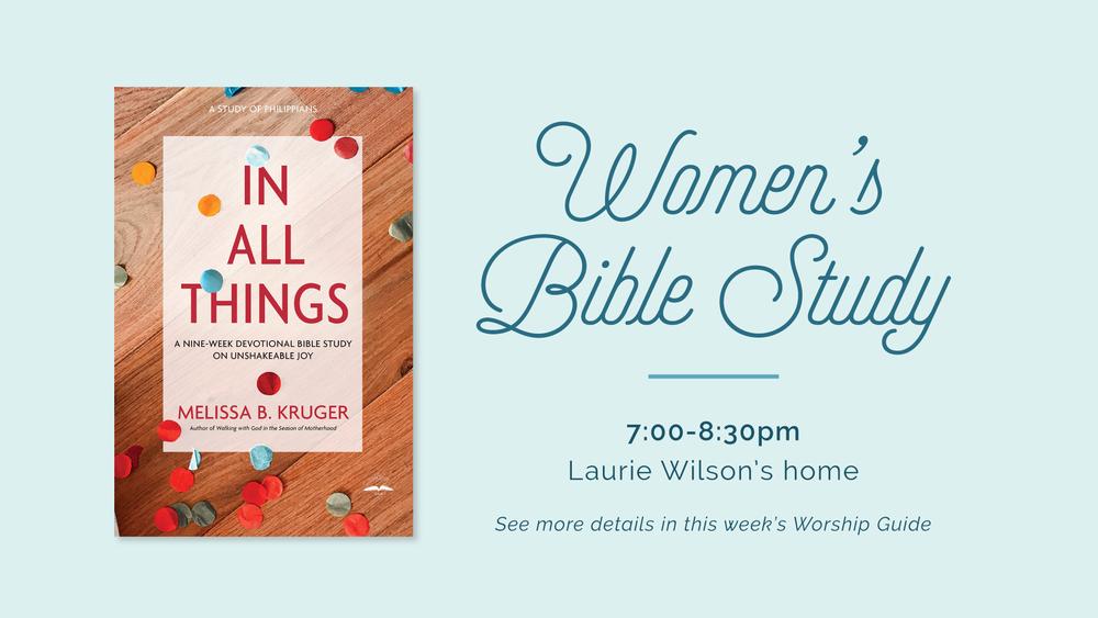 Women's Nine-Week Bible Study - Good Shepherd Presbyterian Church PCA