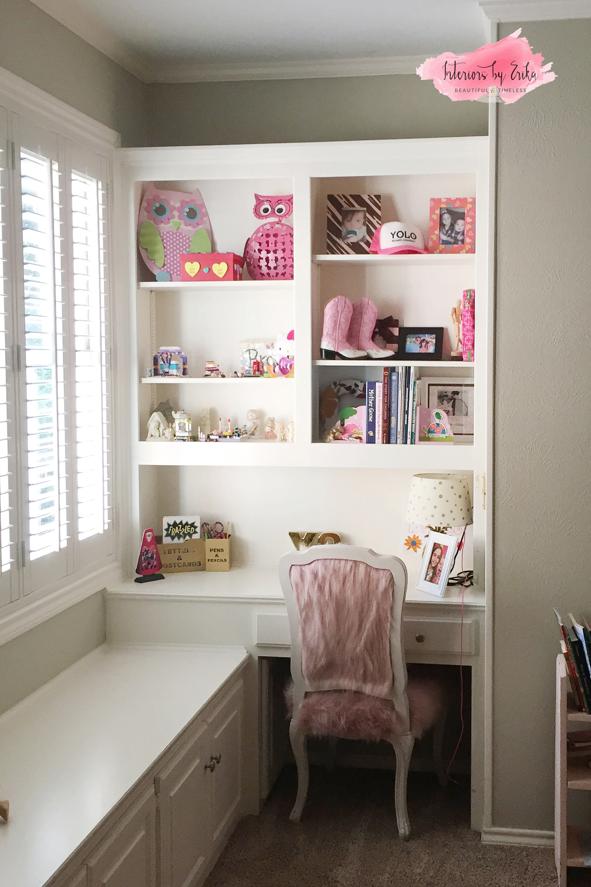 A Few Pops of Pink [Teen Girl Bedroom Decor] — Interiors by Erika
