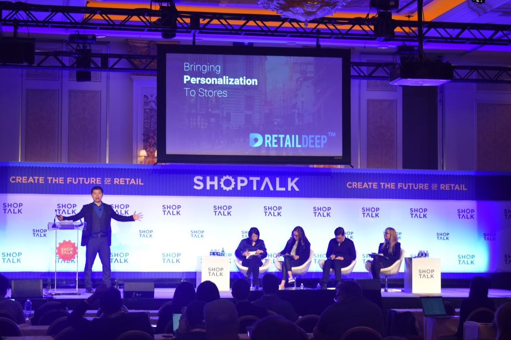 RetailDeep CEO Dr. Hai Hu unveiling RetailDeep Lite at ShopTalk 2019