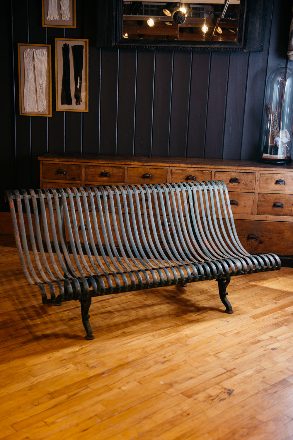 Paris Iron Garden Bench, cast and wrought iron, late 1800's. Photo credit:  Louis and Lavender