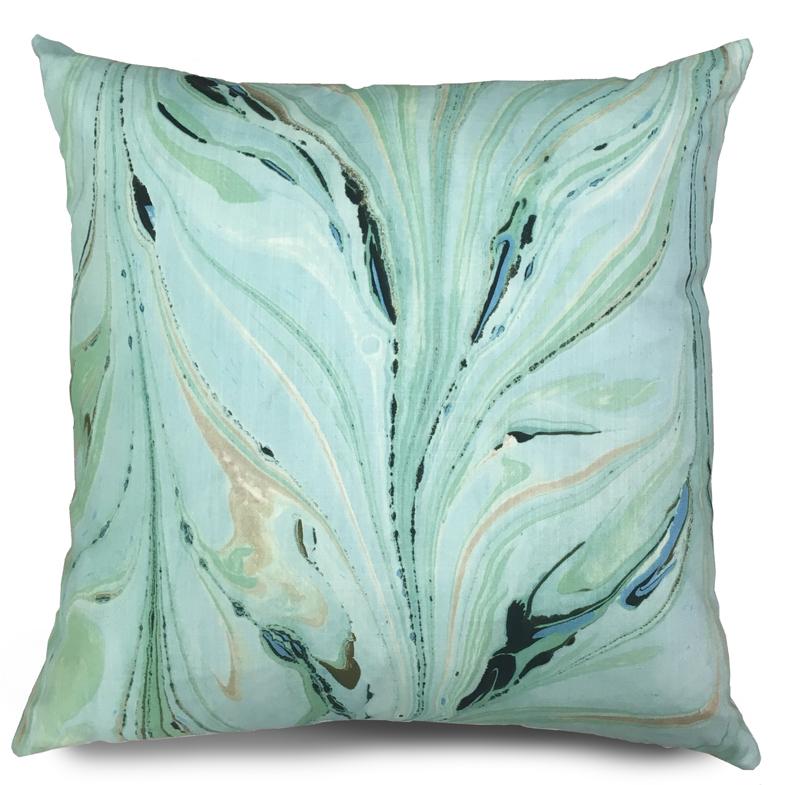 Pillow from Jill Seale, shown in Peacock Plume  Photo Source: Jill Seale