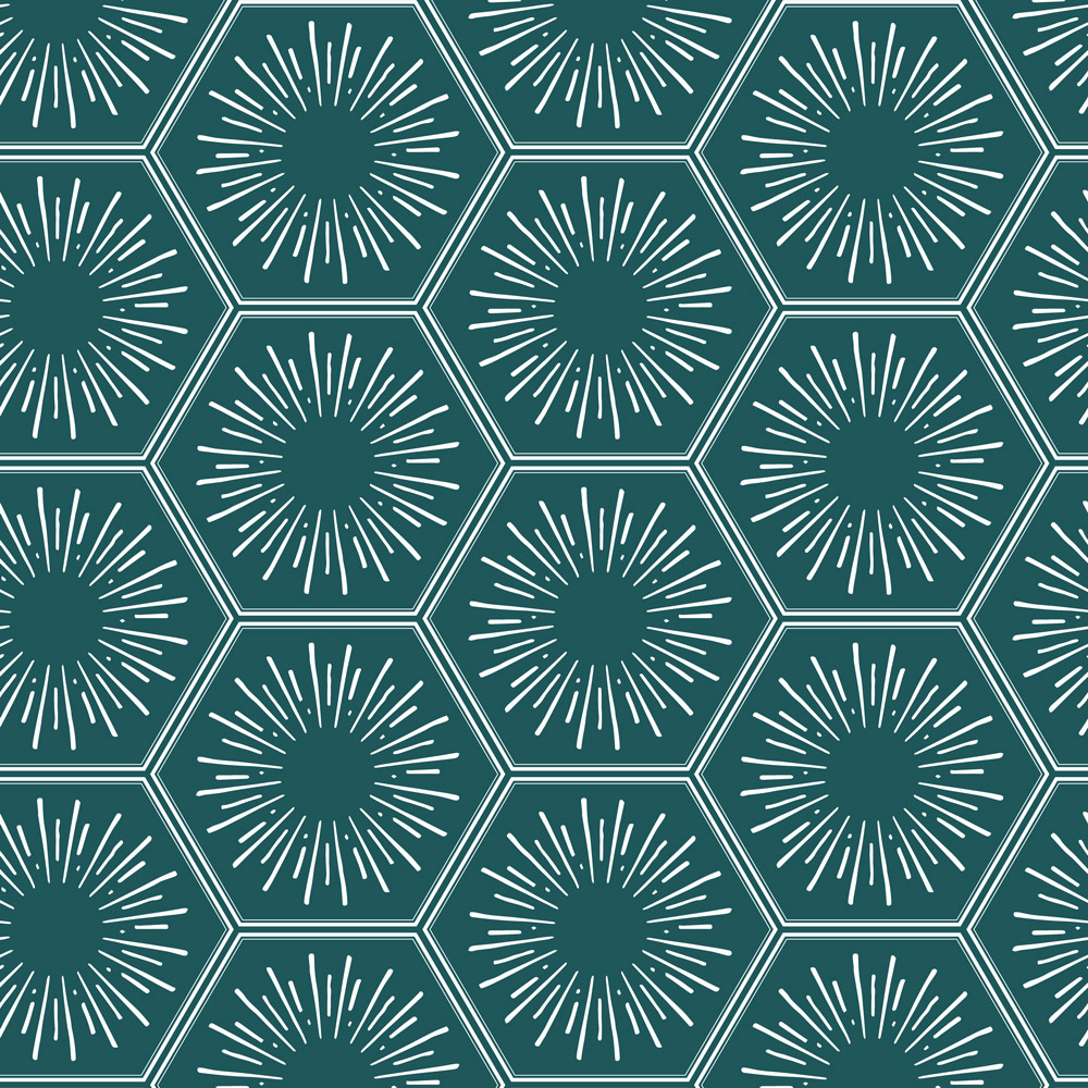 Hello Sunshine in Jade, from Tempaper's Fresh Pressed Collection  Photo Source: Tempaper