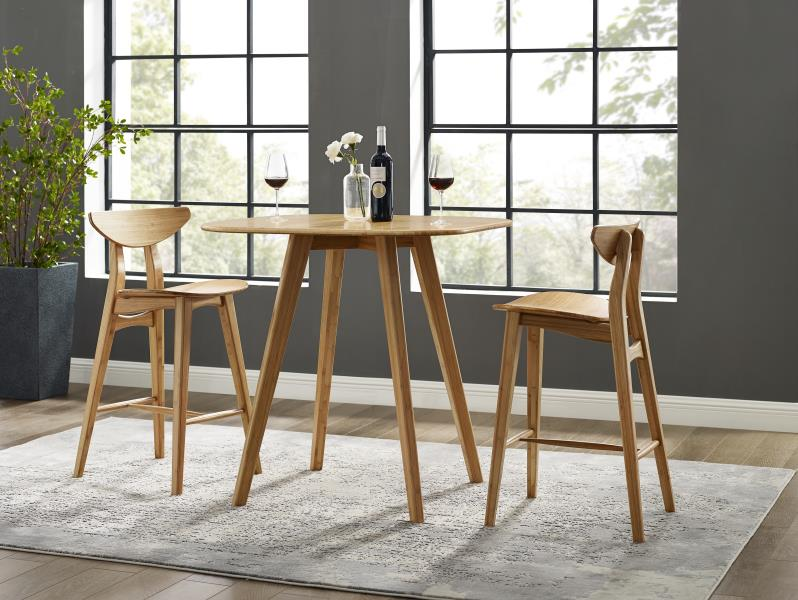 From  Greenington Fine Bamboo Furniture : Tulip bar and counter height table and stools  Photo Source: Greenington Fine Bamboo Furniture