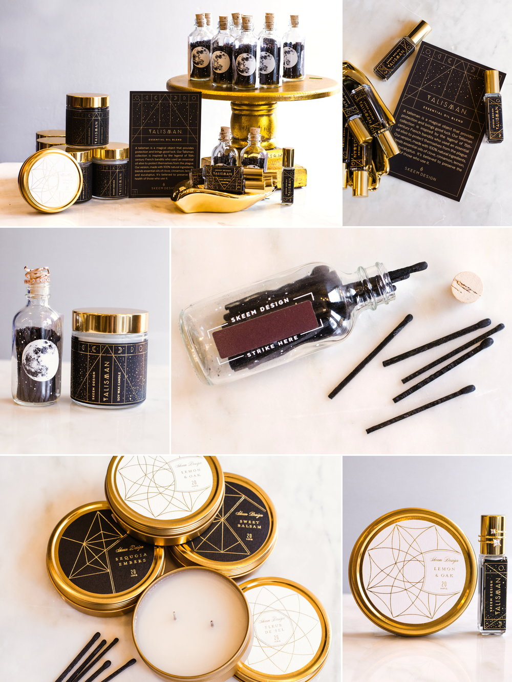 Holiday Glam Guide By Bella Mia Dressed Up  Add these essential oil based giftables to any present. Make it a set by purchasing the candle, matches, and perfume roller from Skeem Designs.     Photography by  Emily D'Angola Photography .