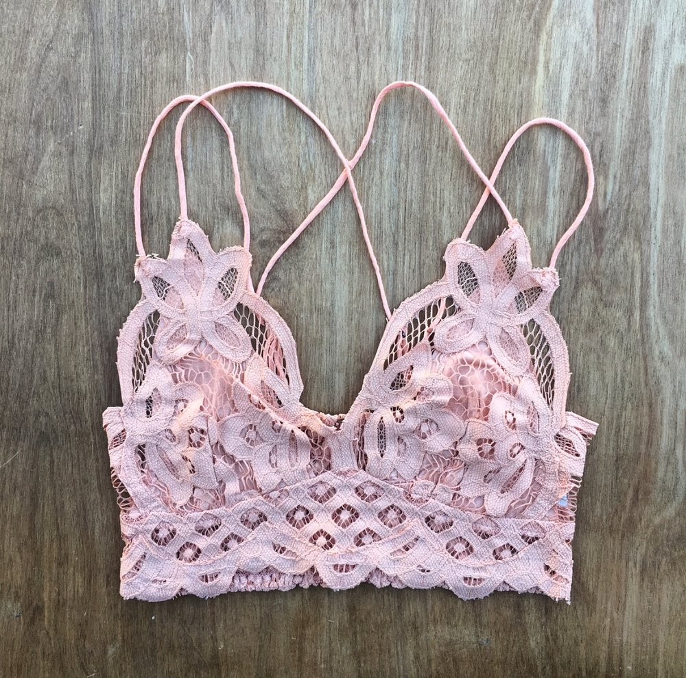 #3 - Super comfy, supportive and cute under almost anything: there is a reason the Free People Adella Bralette is one of our best selling intimates. We are current loving this sweet light orange shade for spring!